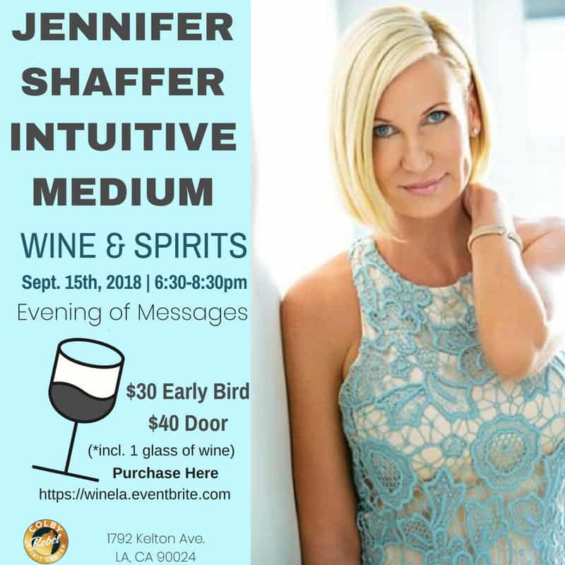 Wine and Spirits-An Evening of Messages with JENNIFER SHAFFER