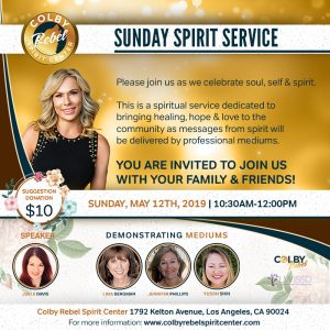 Sunday Spirit Service-May 2019