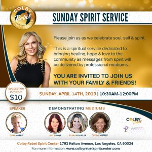 Sunday Spirit Service-April 2019