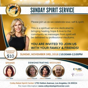 November Sunday Service